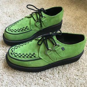 Lime Suede Mono Creeper 70's British 🇬🇧 Punk